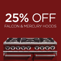 Get 25% off Falcon and Mercury Hoods when you buy a Falcon or Mercury Range Cooker