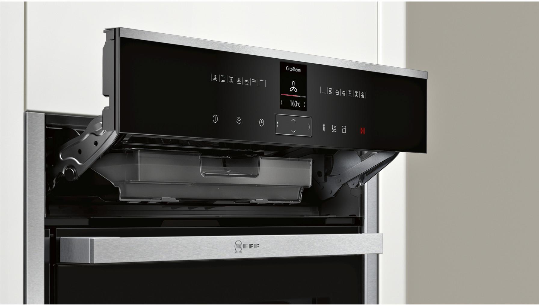 buy neff b57vr22n0b slide hide pyrolytic single oven b57vr22n0b. Black Bedroom Furniture Sets. Home Design Ideas