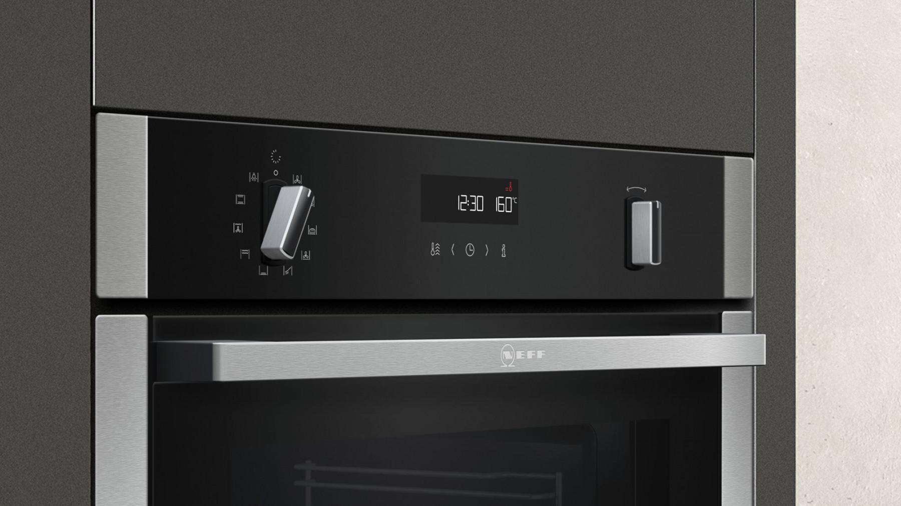buy neff n50 slide hide single oven b3ace4hn0b. Black Bedroom Furniture Sets. Home Design Ideas