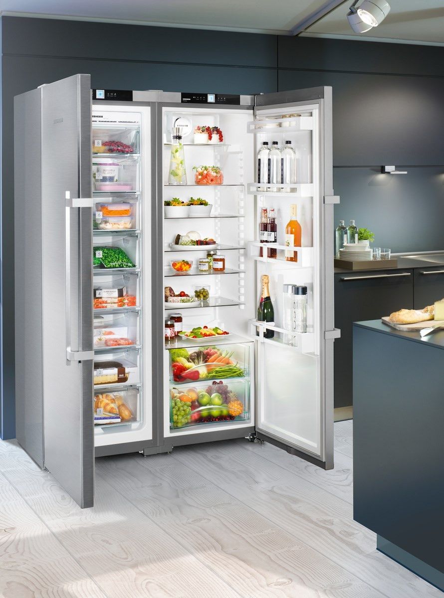 Liebherr Sbsef7242 Side By Side Stainless Steel Food Centre