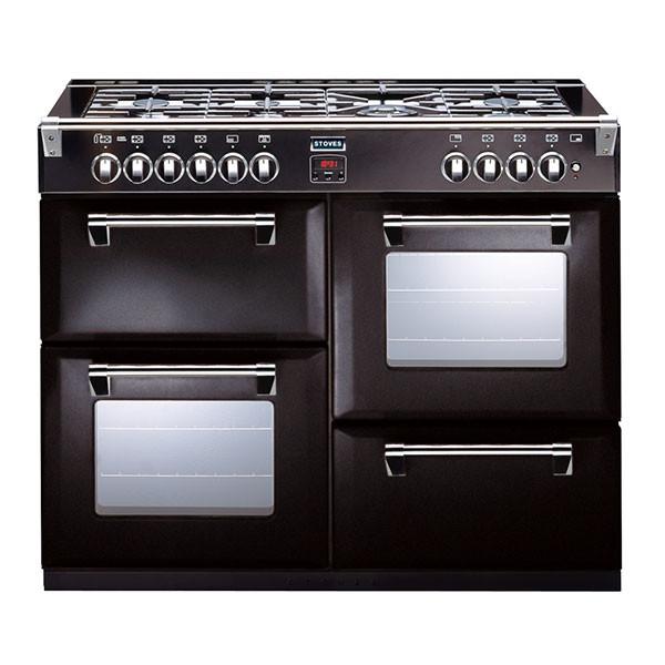 Stoves Richmond 1000DFT Black 100 Dual Fuel Range Cooker
