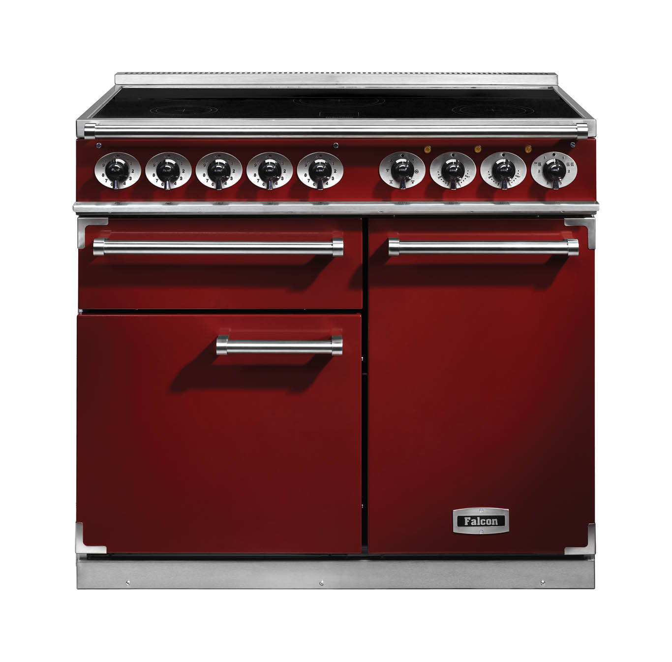 Falcon 1000 Deluxe Induction Range Cooker Cherry Red