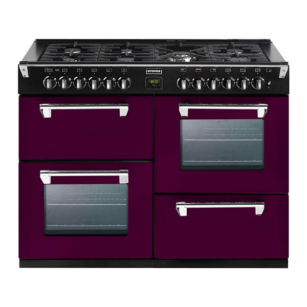 Stoves Richmond 1000DFT Wild Berry 100 Dual Fuel Range Cooker