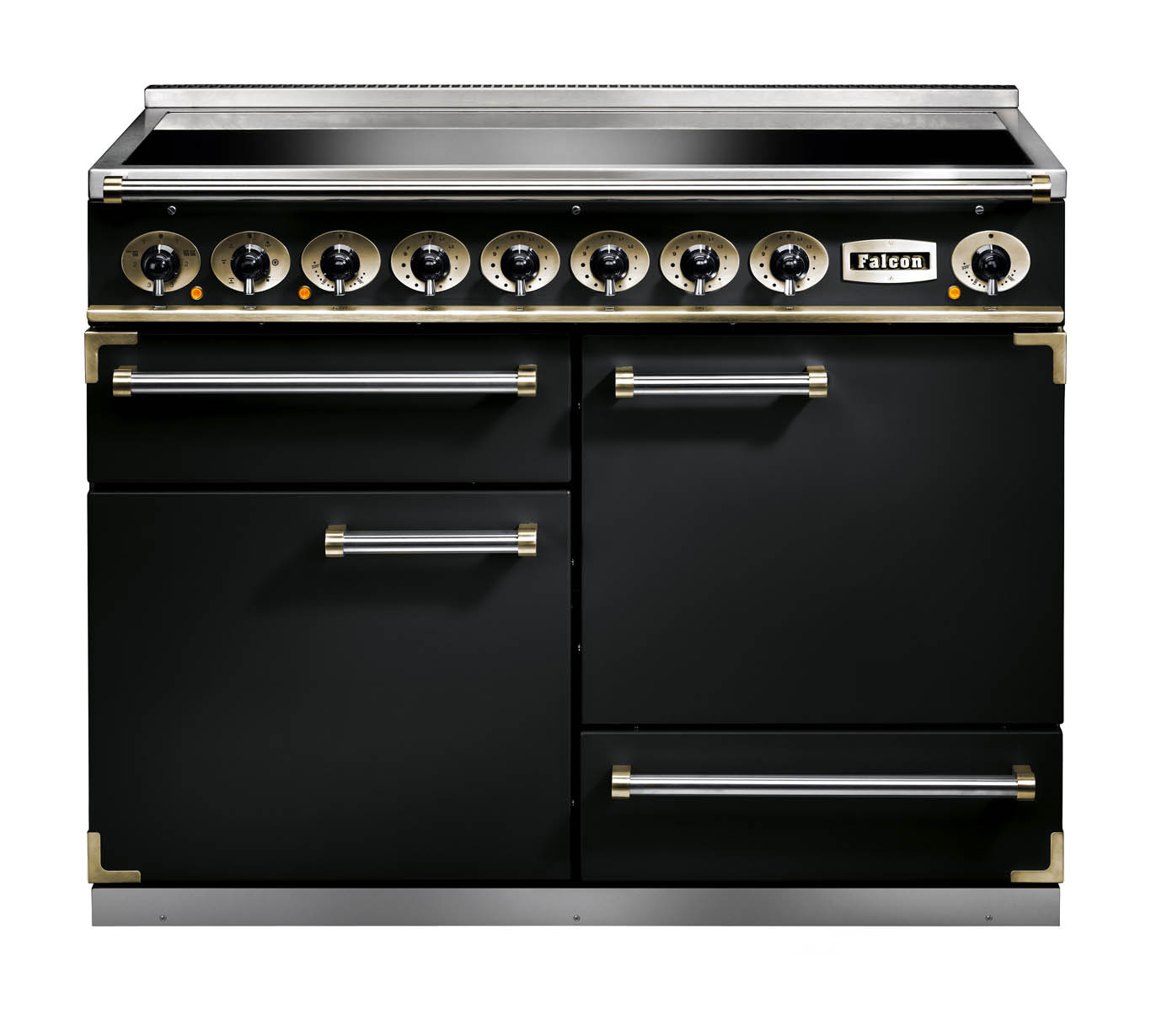 Falcon 1092 Deluxe Induction Black/Brass Range Cooker