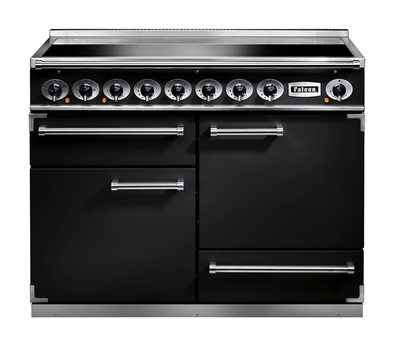 Falcon 1092 Deluxe Induction Black/Chrome Range Cooker