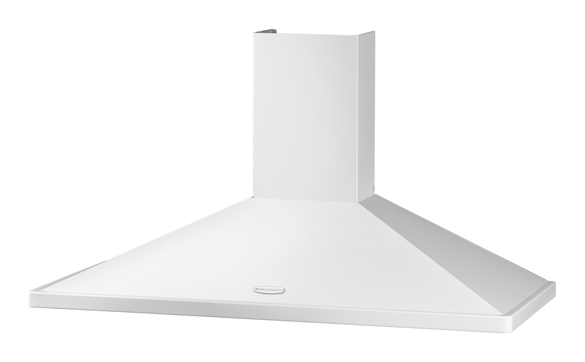 Rangemaster 110cm Chimney Cooker Hood White with Chrome Trim RMHDC110WC/ 89370