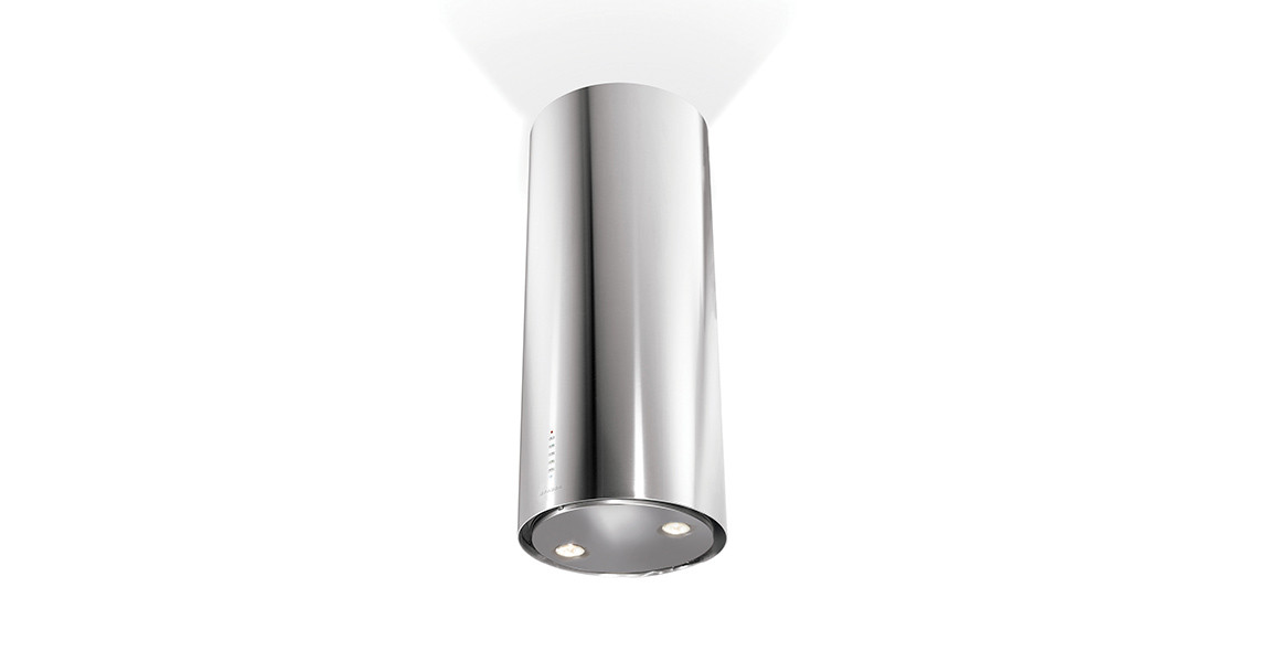 Faber Cylindra Isola 37cm Stainless Steel Island Hood