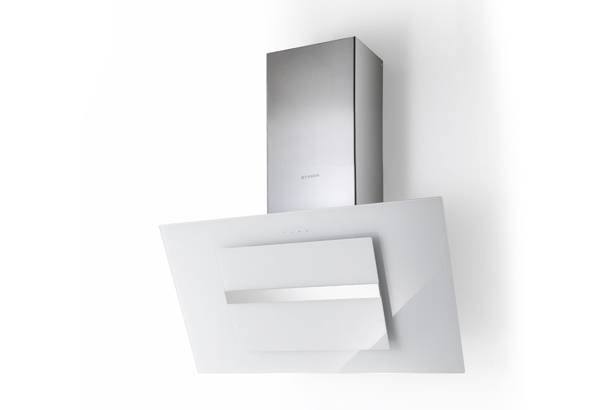 Faber Northia 90cm White Glass / Stainless Steel Wall Hood