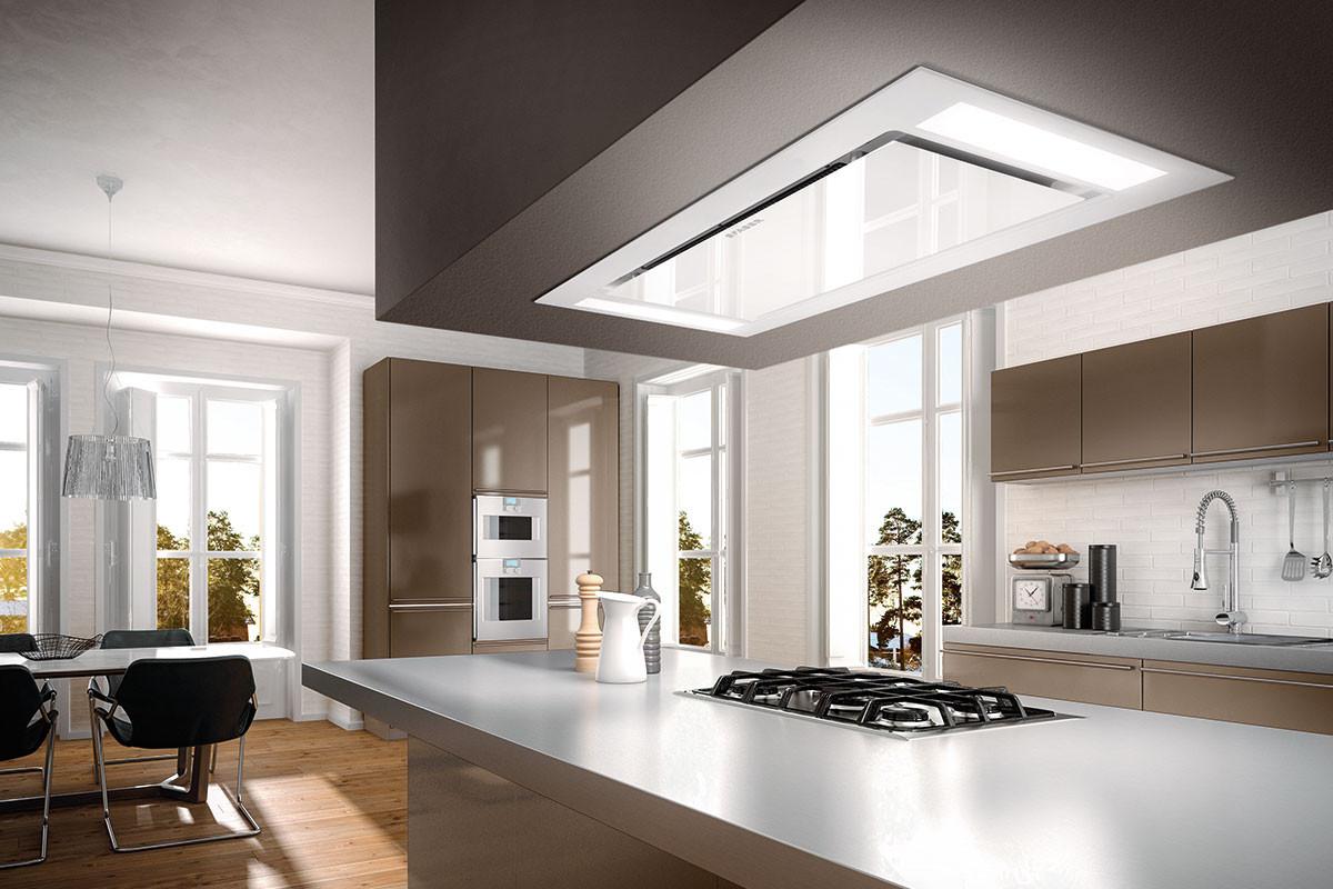 Faber Heaven Glass 2.0 External Motor 90cm White Glass Ceiling Hood