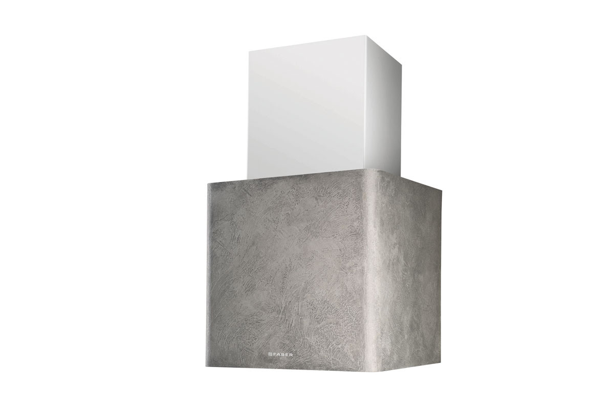 Faber Lithios Concrete 45cm White Wall Hood