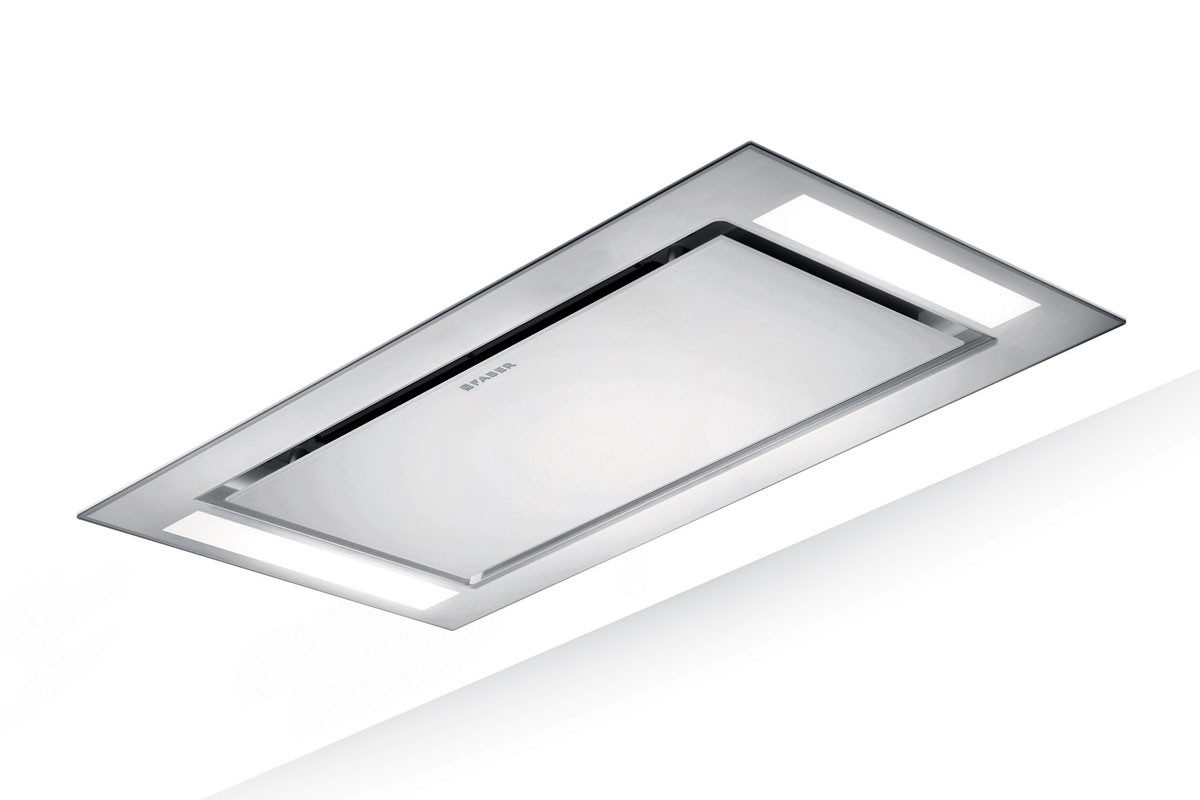 Faber Heaven Glass 2.0 Slim 90cm White Glass Ceiling Hood