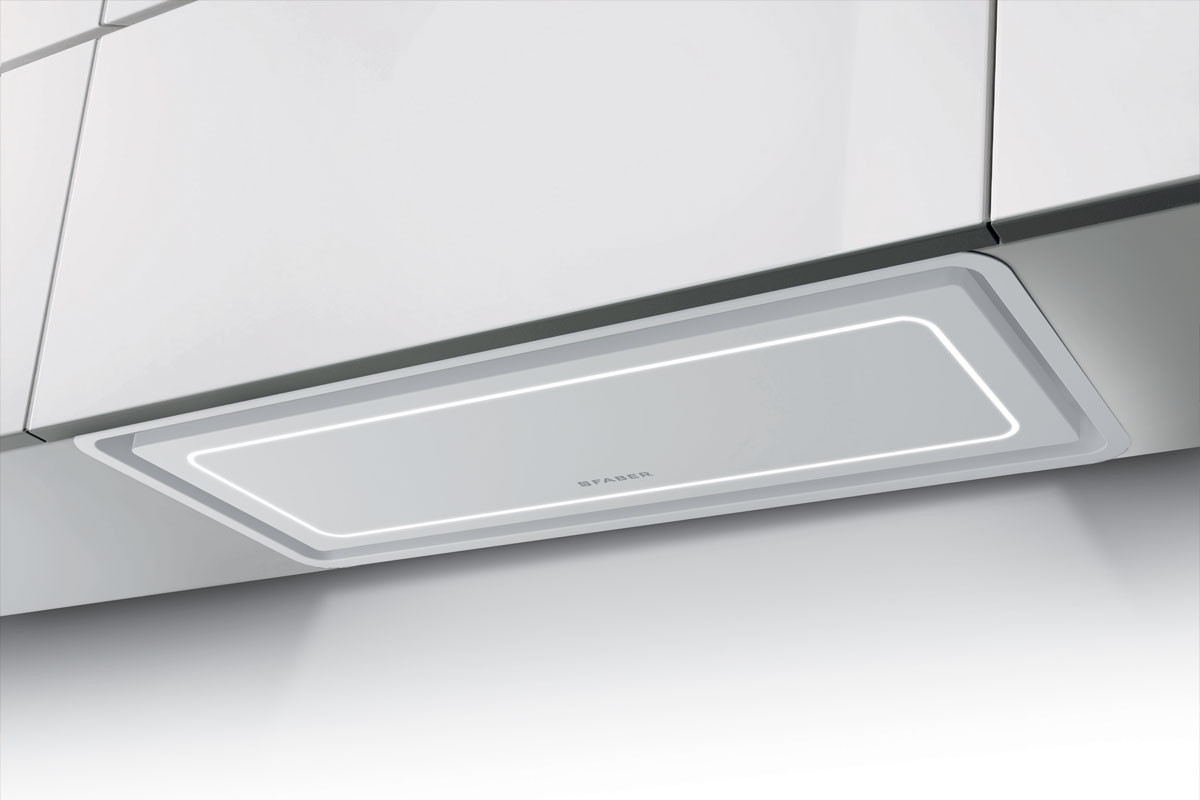 Faber In-Light 52cm Matt White Integrated Hood