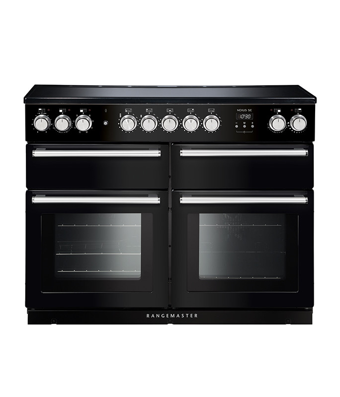 Rangemaster Nexus SE 110 Induction Black Range Cooker NEXSE110EIBL/C 118240
