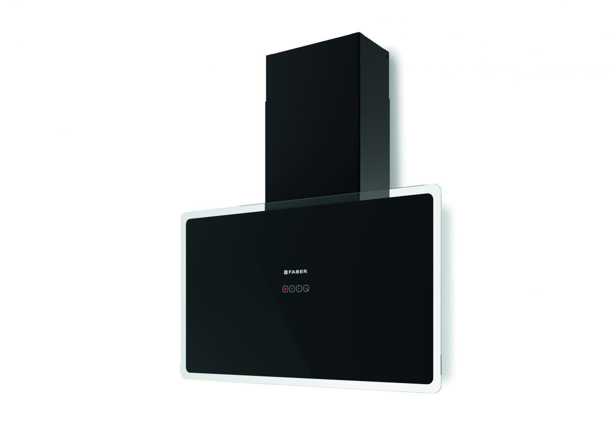 Faber Glam Fit 80cm Black Glass Wall Hood
