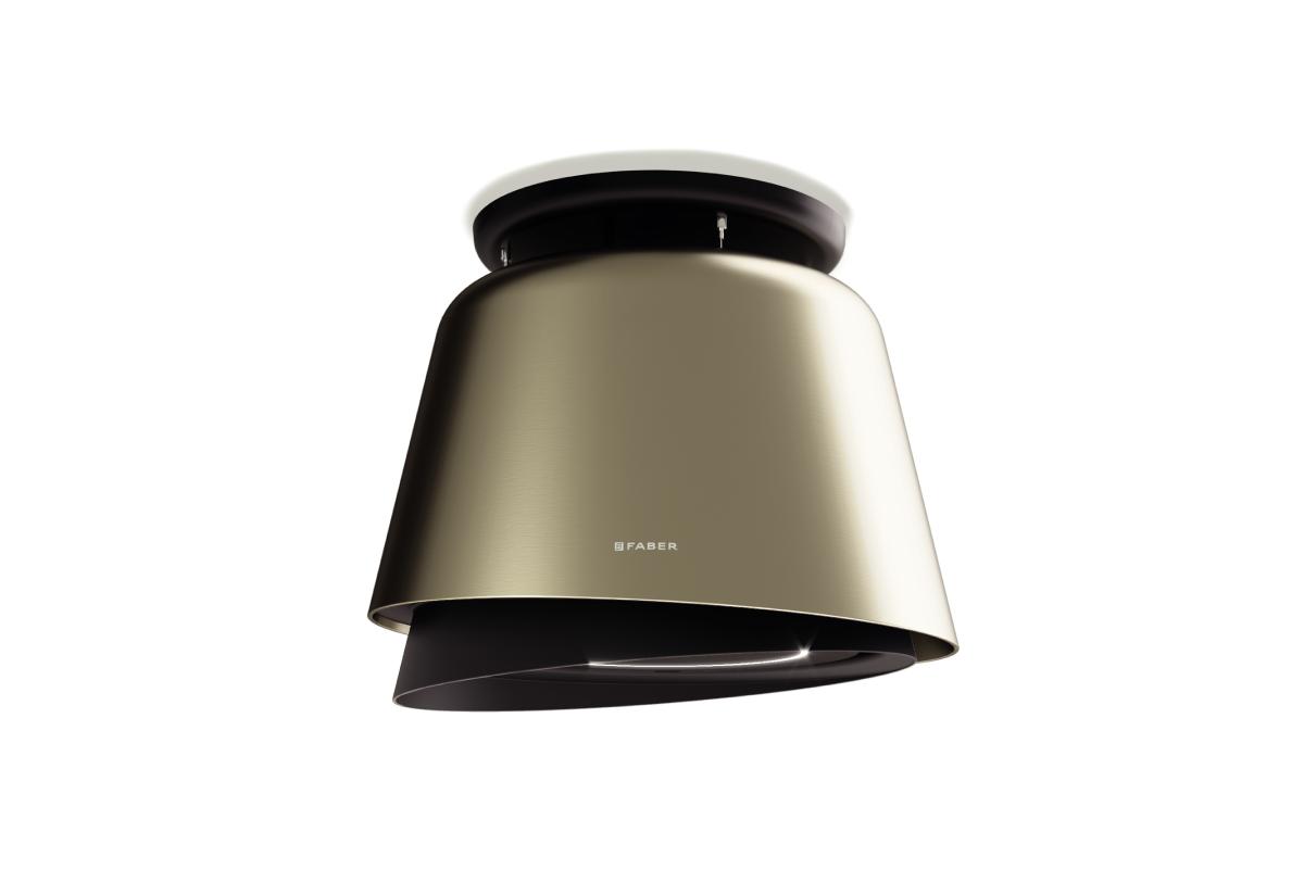 Faber Belle 69.5cm Gold / Warm Dark Grey Matt F-Light Hood