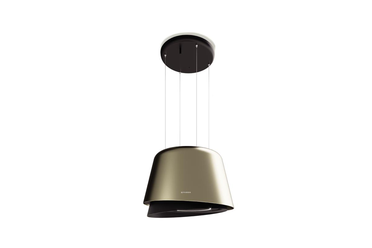 Faber Belle Plus 69.5cm Gold / Warm Dark Grey Matt F-Light Hood