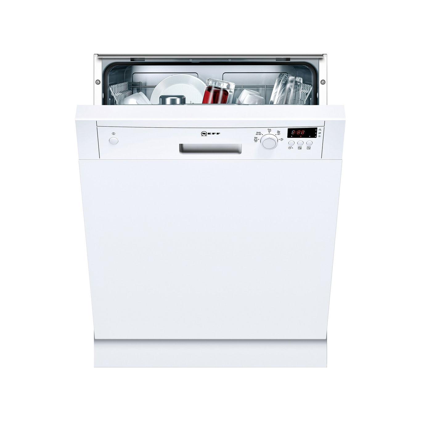 Neff N30 Semi-Integrated 60cm Dishwasher White S41E50W1GB