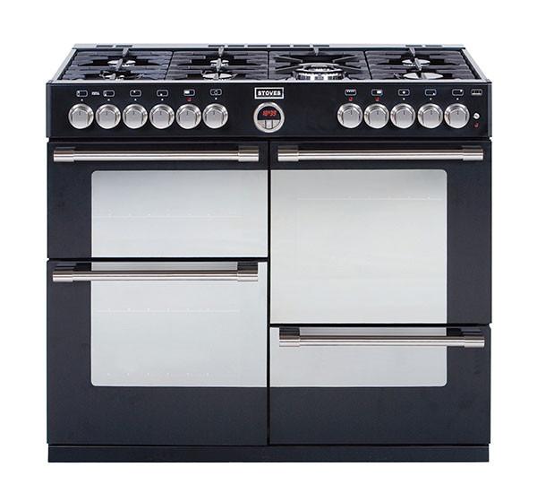 Stoves Sterling 1000DFT Black 100 Dual Fuel Range Cooker