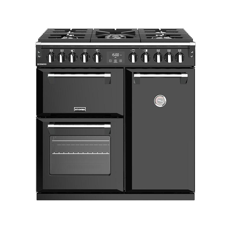 Stoves Richmond S900DF Dual Fuel Black 90 Range Cooker 444444435