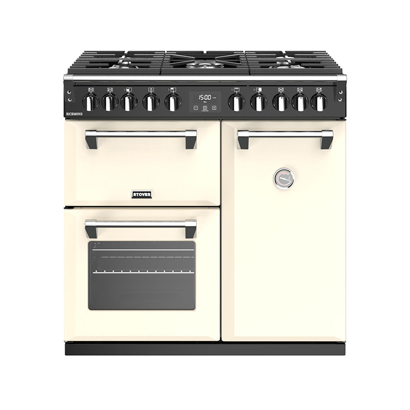 Stoves Richmond S900DF Dual Fuel Classic Cream 90 Range Cooker 444444436