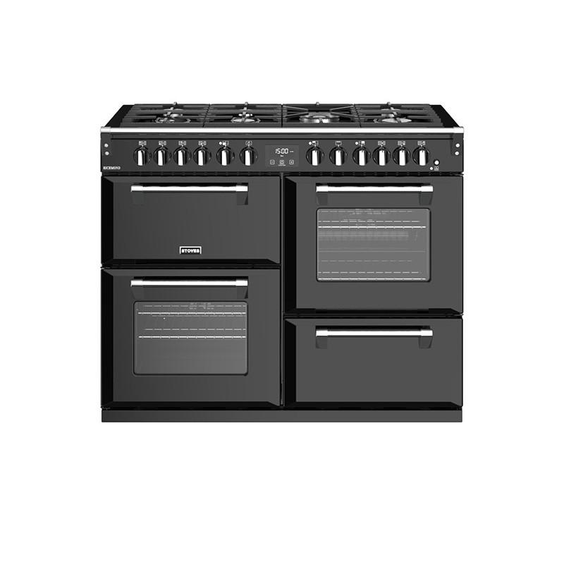 Stoves Richmond S1100DF Dual Fuel Black 110 Range Cooker 444444466