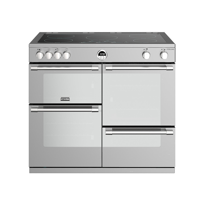 Stoves Sterling S1000EI Induction Stainless Steel 100 Range Cooker Stainless 444444498
