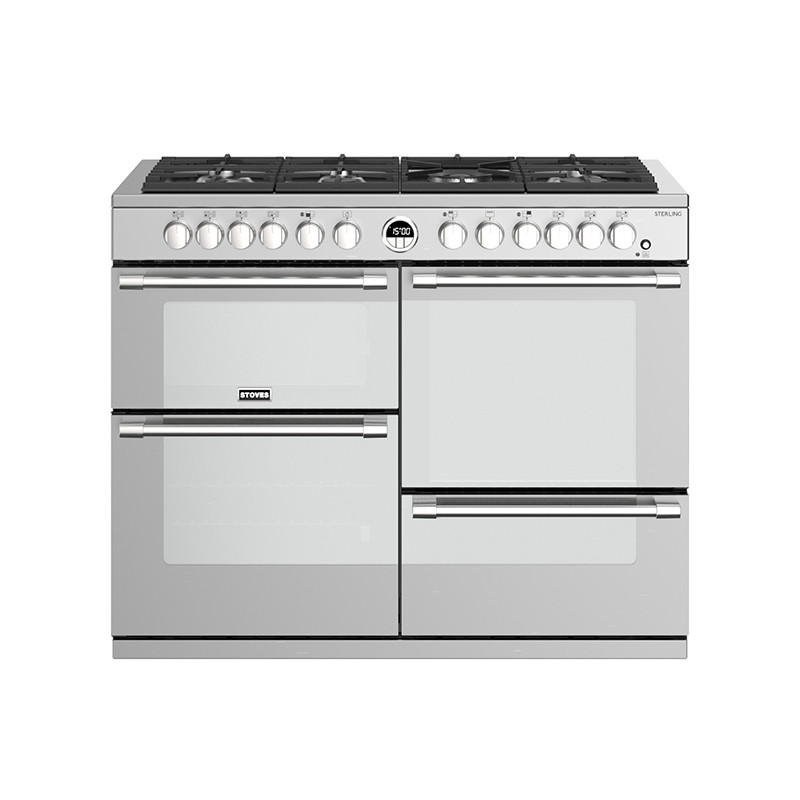 Stoves Sterling S1100DF Dual Fuel Stainless Steel 110 Range Cooker 444444502
