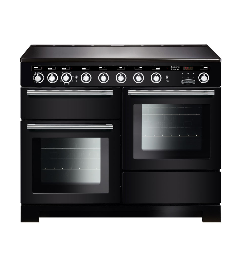 Rangemaster Encore Deluxe 110 Induction Black Range Cooker EDL110EIBL/C 117380
