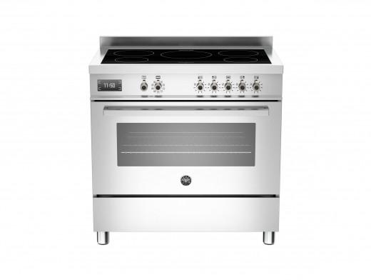 Bertazzoni Professional 90 Single Oven Induction Stainless Steel Range Cooker PRO90-5I-MFE-S-XT