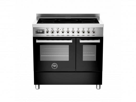 Bertazzoni Professional 90 Double Oven Induction Black Range Cooker PRO90-5I-MFE-D-NET
