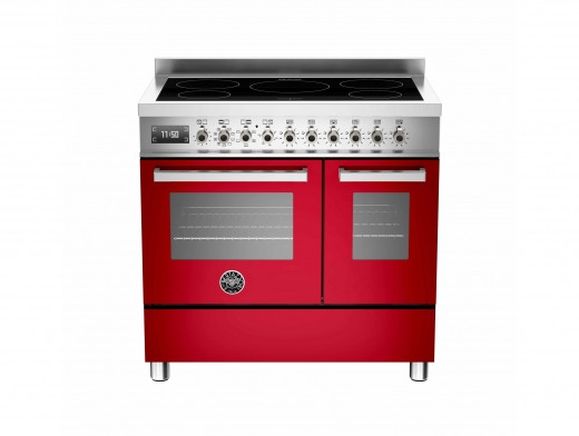 Bertazzoni Professional 90 Double Oven Induction Red Range Cooker PRO90-5I-MFE-D-ROT