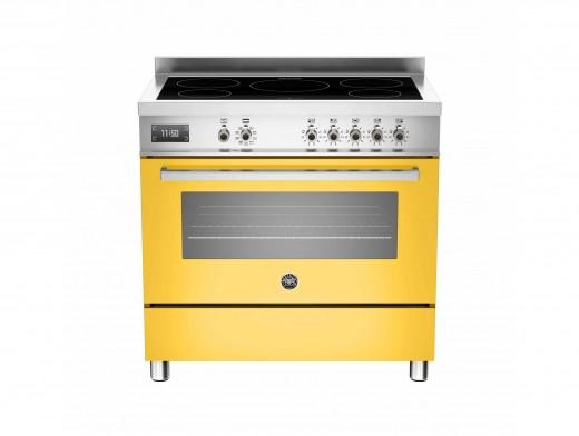 Bertazzoni Professional 90 Single Oven Induction Yellow Range Cooker PRO90-5I-MFE-S-GIT