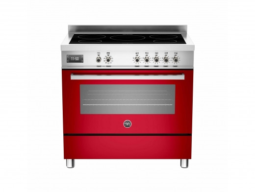 Bertazzoni Professional 90 Single Oven Induction Red Range Cooker PRO90-5I-MFE-S-ROT