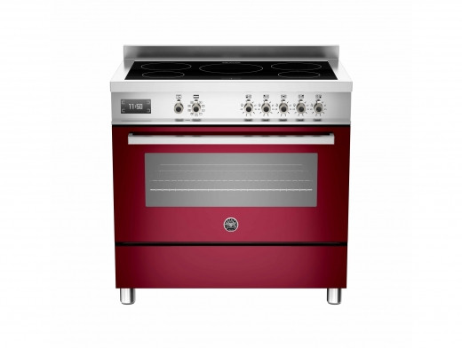 Bertazzoni Professional 90 Single Oven Induction Burgundy Range Cooker PRO90-5I-MFE-S-VIT