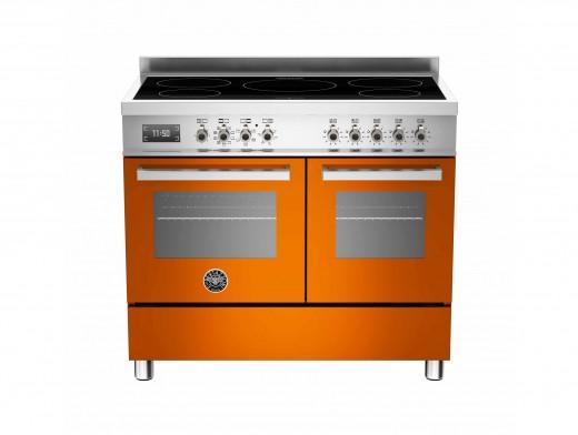 Bertazzoni Professional 100 Double Oven Induction Orange Range Cooker PRO100-5I-MFE-D-ART