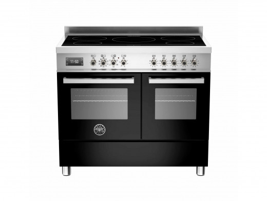 Bertazzoni Professional 100 Double Oven Induction Black Range Cooker PRO100-5I-MFE-D-NET