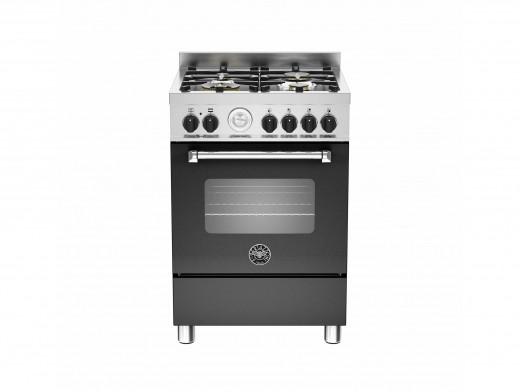 Bertazzoni Master 60 Single Oven Dual Fuel Matt Black Range Cooker MAS60-4-MFE-S-NEE