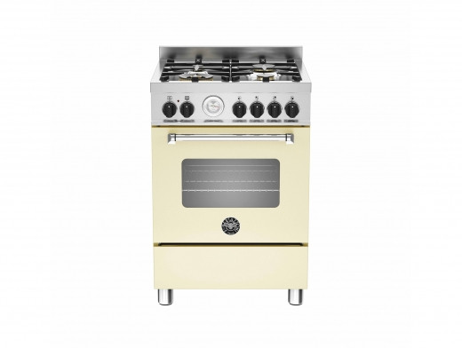 Bertazzoni Master 60 Single Oven Dual Fuel Matt Cream Range Cooker MAS60-4-MFE-S-CRE