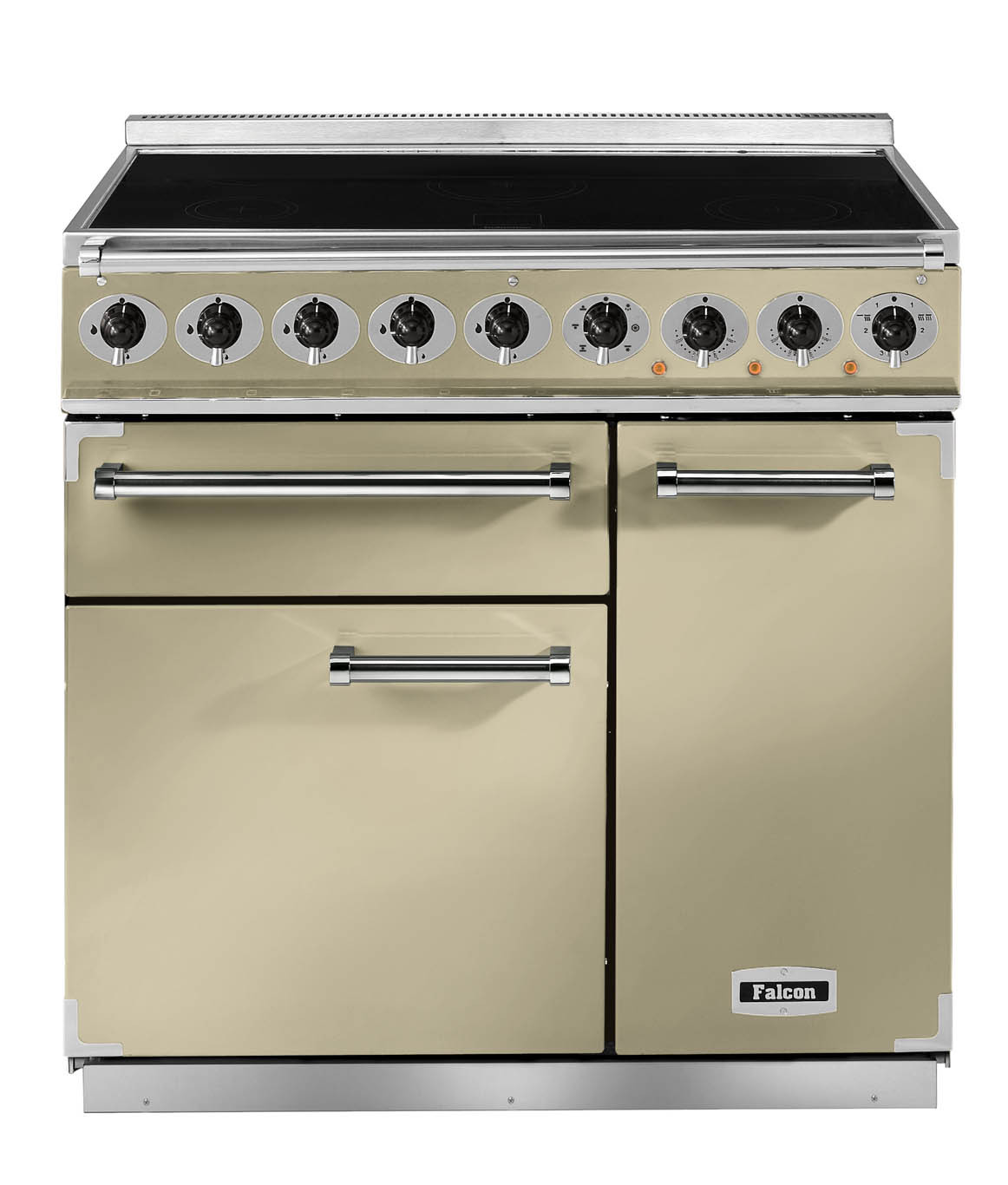 Falcon Deluxe 900 Induction Cream/Chrome Range Cooker