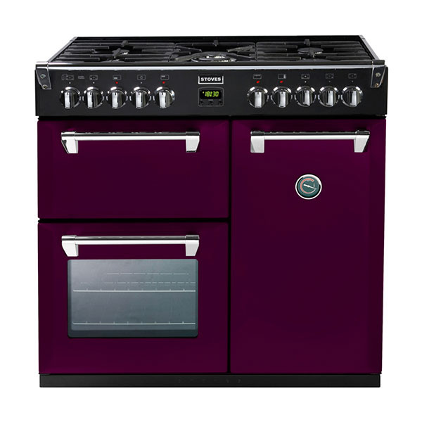 Stoves Richmond 900DFT Wild Berry 90 Dual Fuel Range Cooker