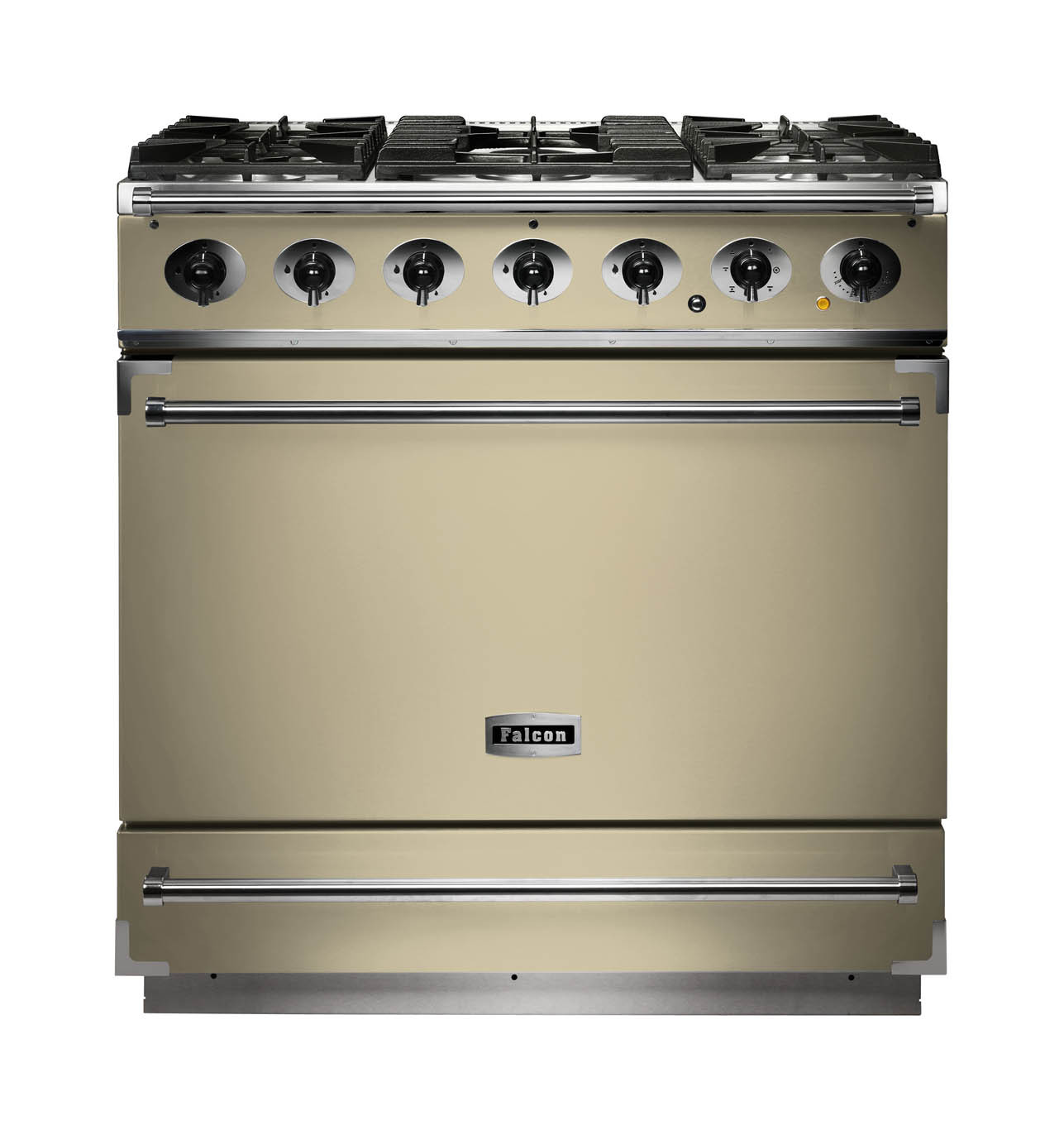 Falcon 900S Dual Fuel Cream Range Cooker with Matt Pan Supports