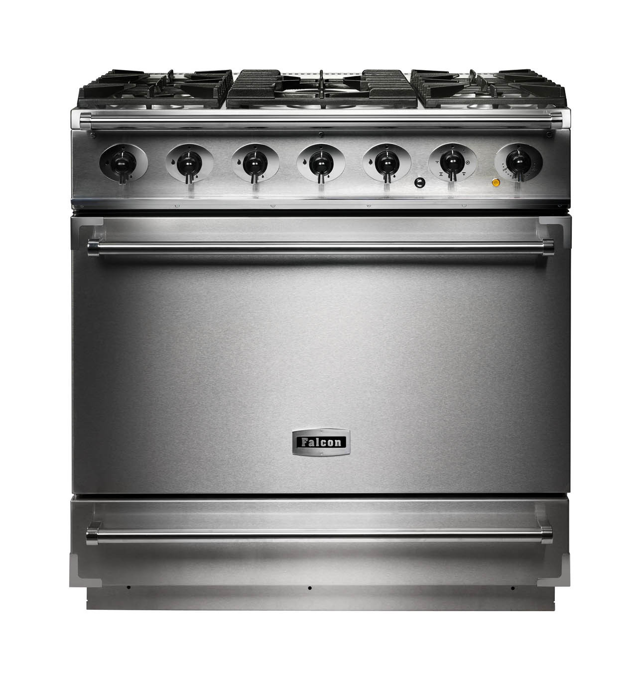 Falcon 900S Dual Fuel Stainless Steel Range Cooker with Matt Pan Supports