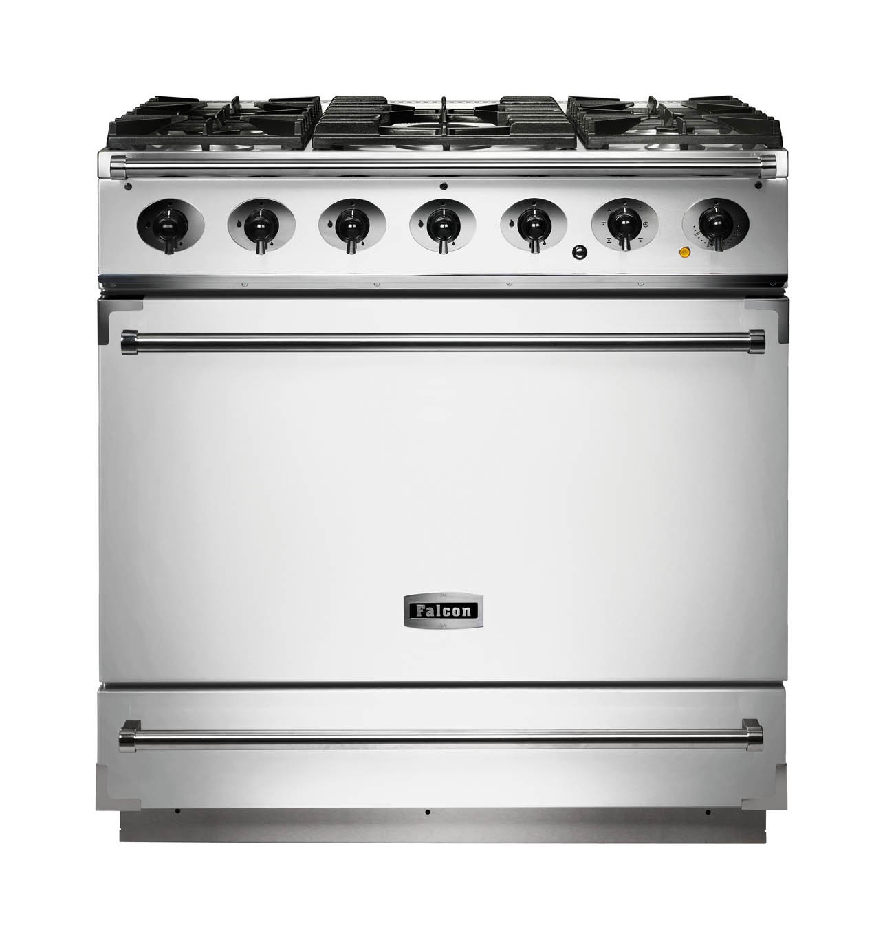 Falcon 900S Dual Fuel Ice White Range Cooker with Matt Pan Supports