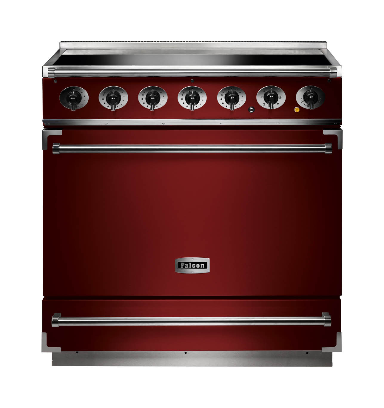 Falcon 900S Induction Cherry Red Range Cooker
