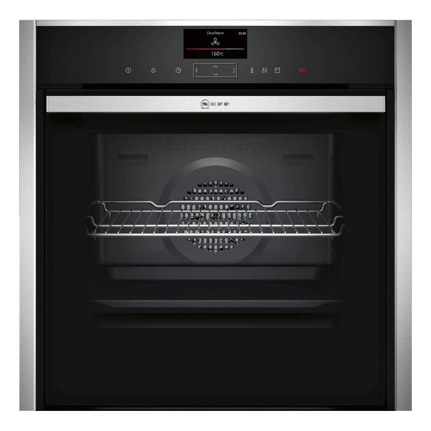 Neff N90 Slide & Hide Pyrolytic Single Oven With VarioSteam B57VS24H0B