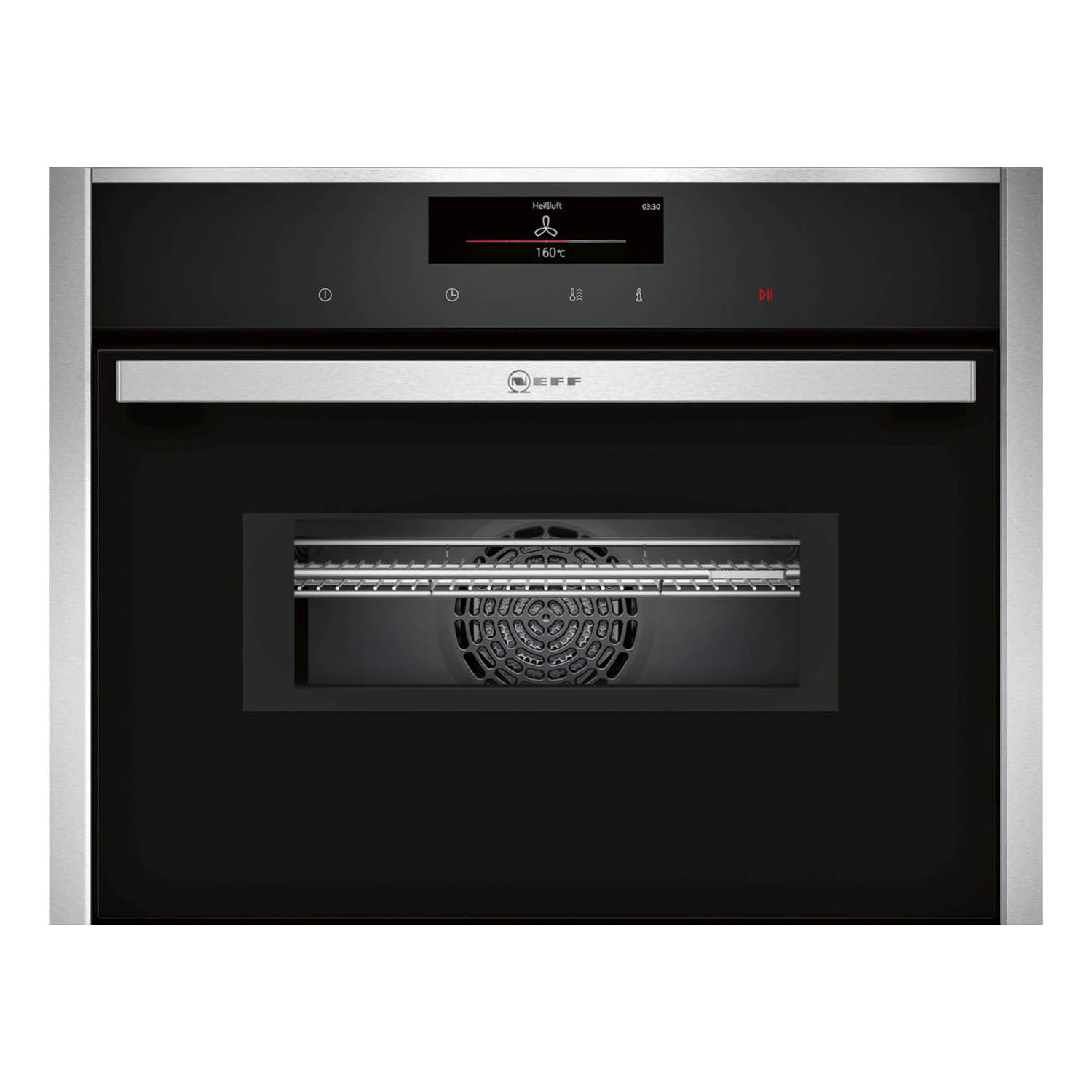 Neff N90 Pyrolytic Compact 45cm Oven with Microwave C28MT27N0B