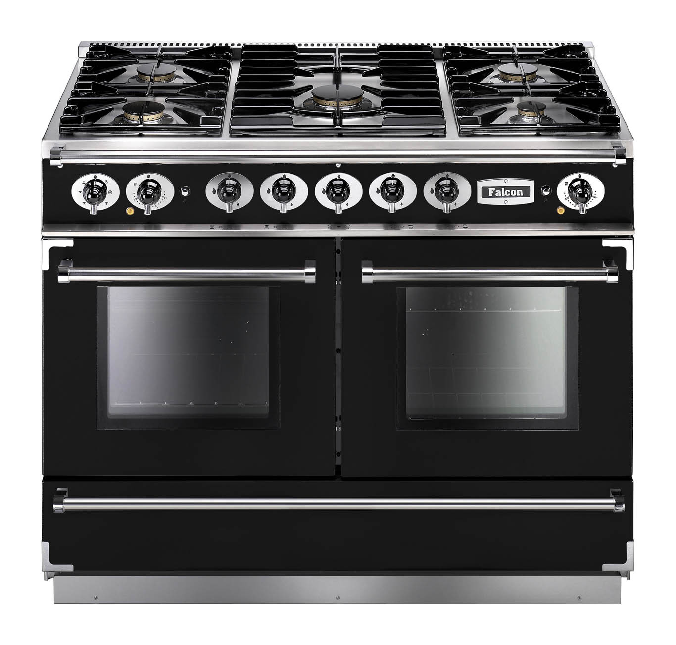 Falcon Continental 1092 Dual Fuel Black Range Cooker with Matt Pan Supports
