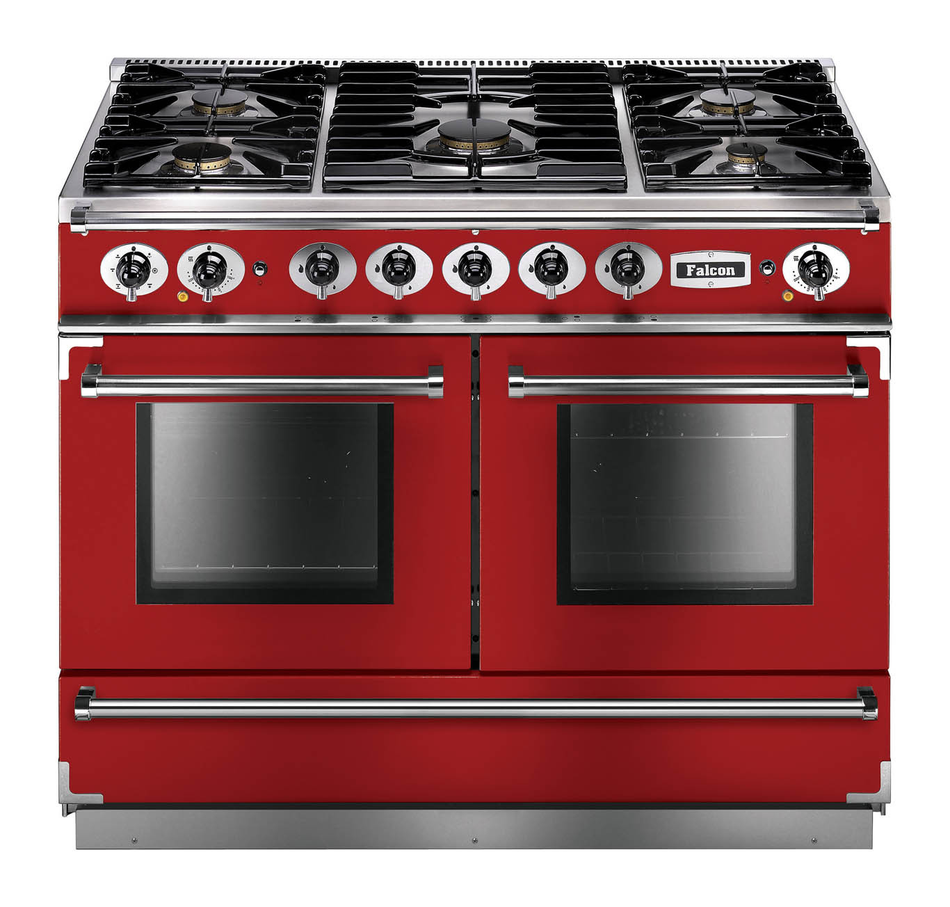 Falcon Continental 1092 Dual Fuel Cherry Red Range Cooker with Matt Pan Supports