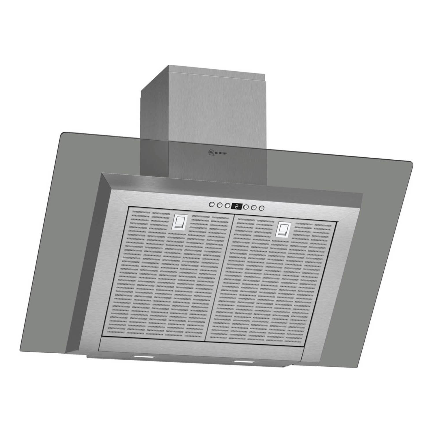 Neff 90 Chimney Hood with Glass Canopy Sides