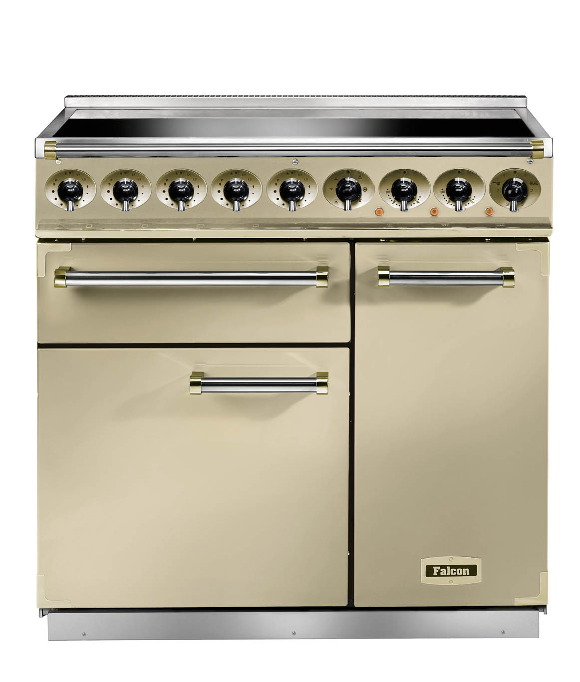 Falcon Deluxe 900 Induction Cream/Brass Range Cooker